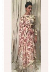 New Arrival Off-White Designer Lehenga Choli..  http://www.kmozi.com/bollywood-replica/online-shopping-bollywood-actress-lehenga-choli/new-arrival-off-white-designer-lehenga-choli-1312