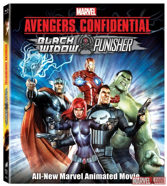 "Marvel's Avengers are back in the new, feature-length animated adventure ""Avengers Confidential: Black Widow & Punisher,"" available March 25…In this action-packed animated film, two of Marvel's most popular characters, Black Widow and the Punisher team up alongside Iron Man, Thor, Hulk, and the rest of the Avengers…""Avengers Confidential: Black Widow & Punisher"" was directed by Kenichi Shimizu, with a story by Marjorie Liu and screenplay by Mitsutaka Hirota."