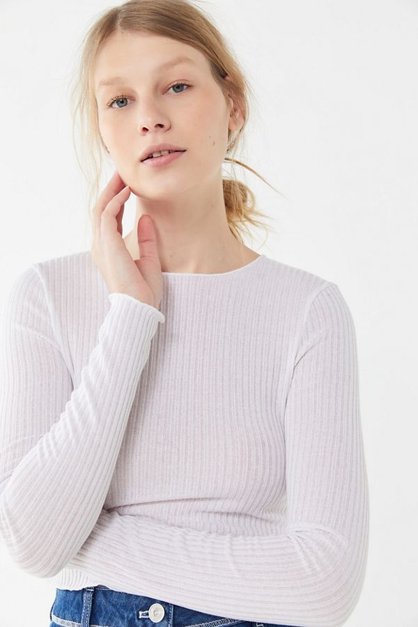 80967eabc7084 Project Social T Ribbed Long Sleeve Cropped Top in 2019