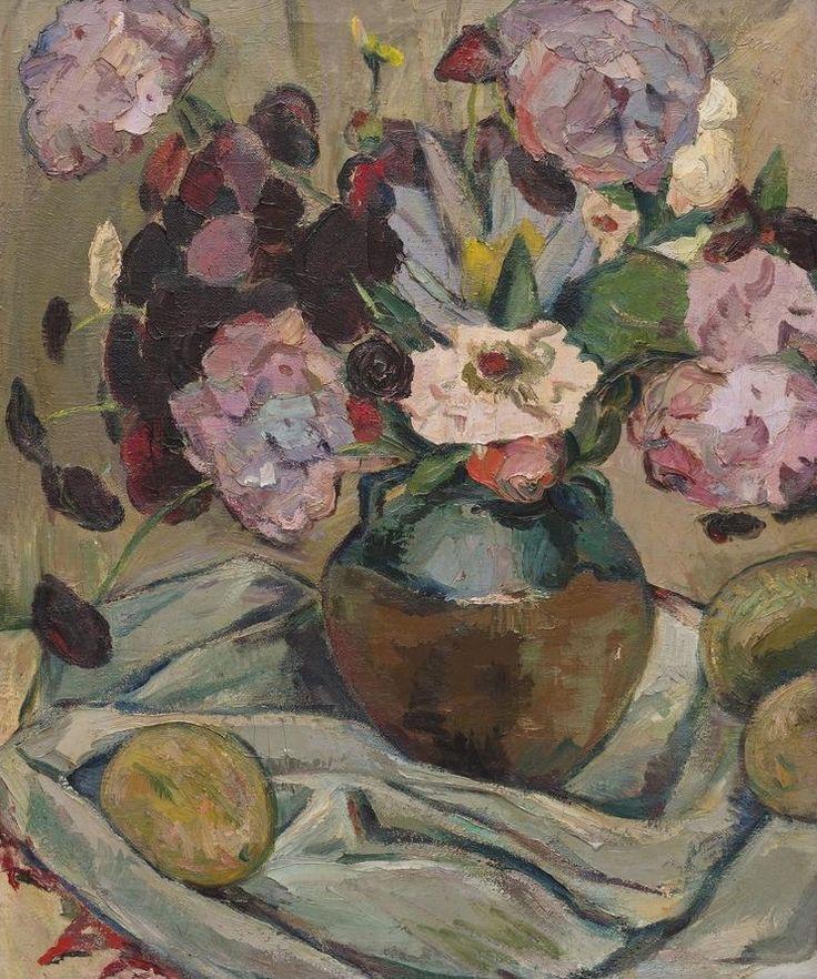'Still life with hydrangeas and mangoes', 1944 - Irma Stern (1894–1966)