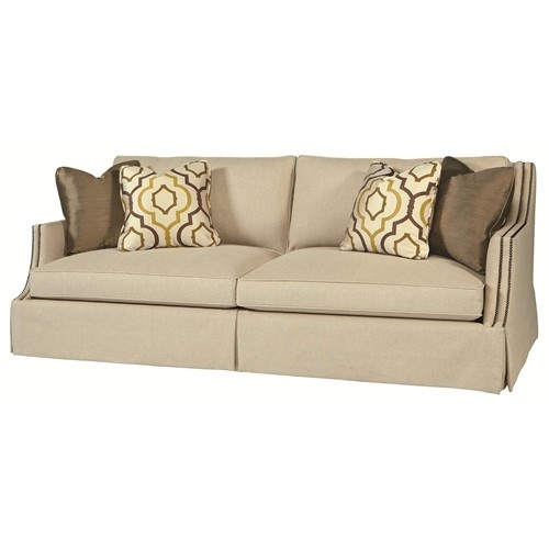 Caroline B188 Transitional Styled High End Sofa With Toss Pillows And Nail  Head Trim By Bernhardt