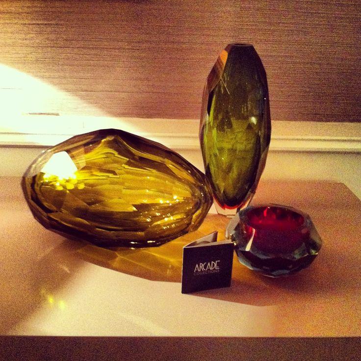 Unique Murano vases available through our showroom #karageorgiou #arcade