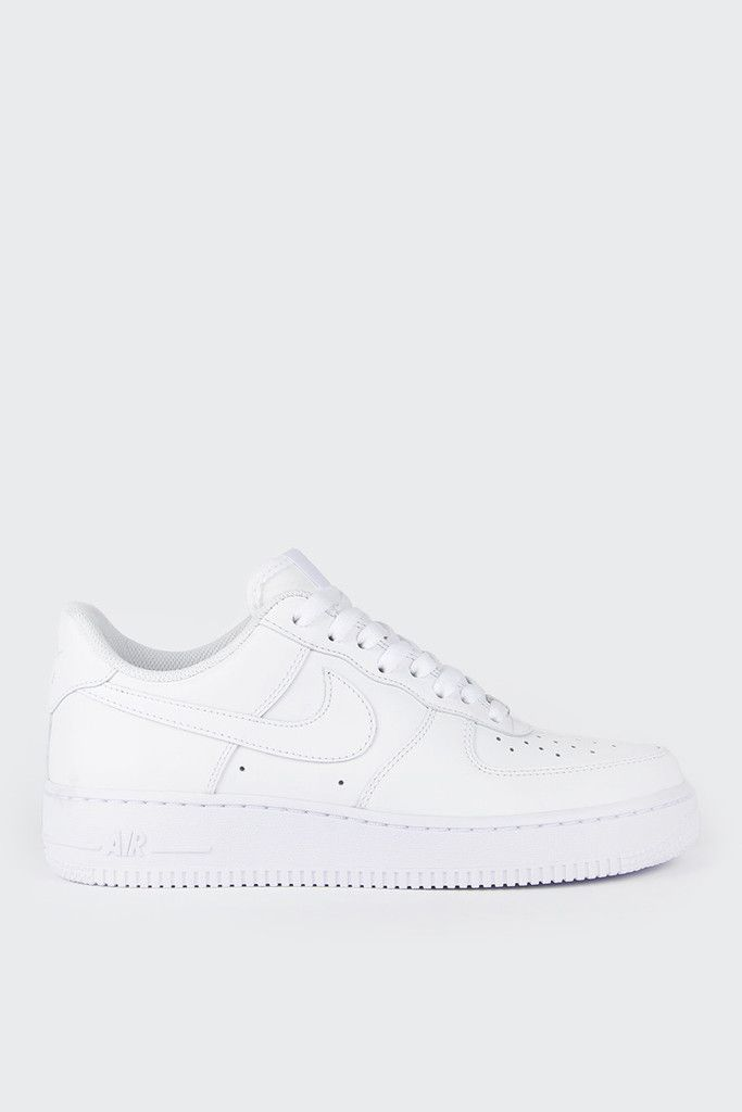 EXPECTED DELIVERY EARLY APRILNike Womens Air Force 1 07 - white/whiteFit: True to sizeMaterials: Leather upper, rubber outsoleSizing: US Women's- Low top silhouette- Nike Air cushioning midsole- Rubber outsole- The staple that's needed in every wardrobe- Wearable with dresses, shorts, pants, jeansCode: 315115-112