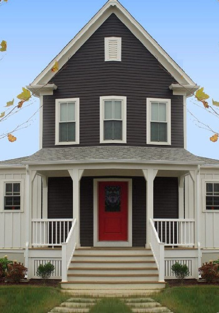 15 best exterior house paint color images on pinterest - House paint color combinations exterior ...