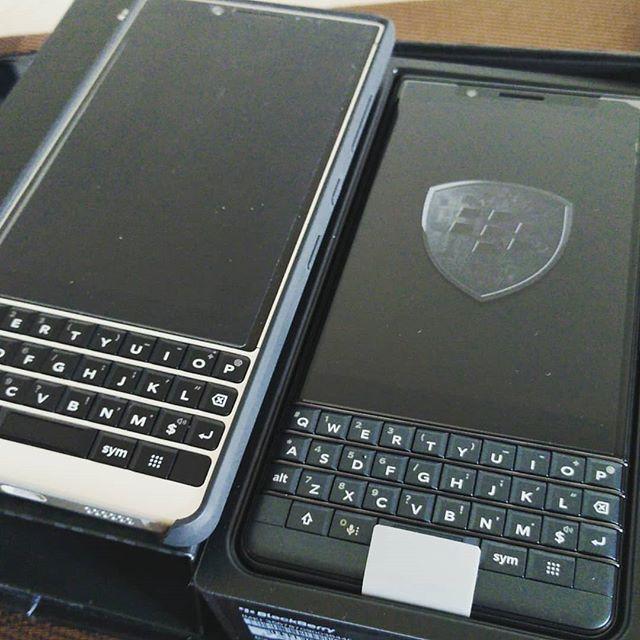 inst10 #ReGram @boisdours: KEY2 bros #BlackBerry #blackberrykey2