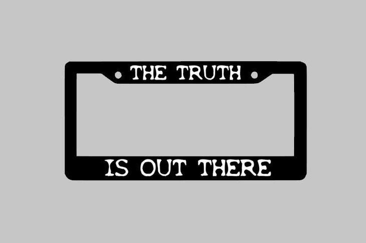 The Truth Is Out There license Plate Frame, Cool License Plate, Vinyl Decal Sticker On license Plate Frame by StickUpGraphix on Etsy