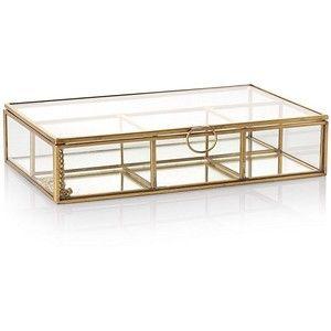 Medium Gold & Glass Mirrored Jewellery Box | Oliver Bonas