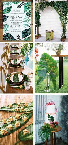 palm leaf tropical weddings