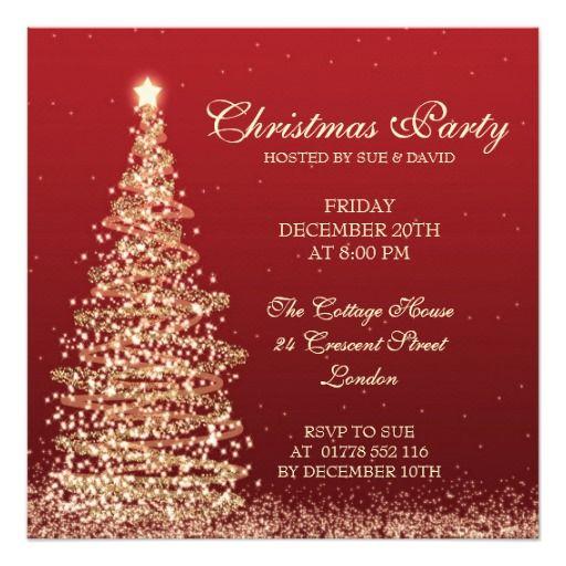 161 best christmas invitations images on pinterest christmas cards elegant christmas party red card stopboris Gallery