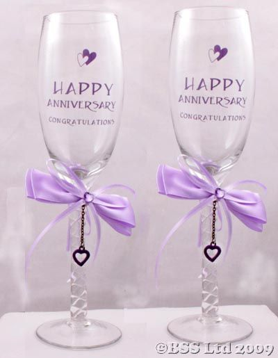 Cheap Champagne Flute Glasses | Happy Anniversary Champagne Flutes