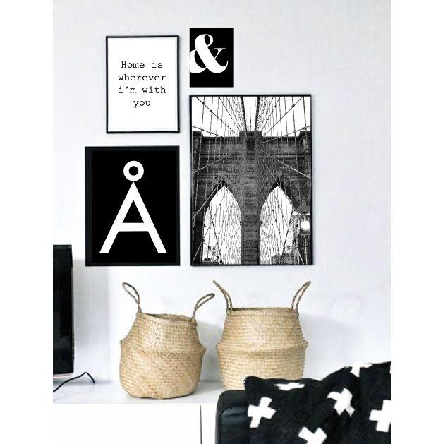 Schwarz-Weiß Kunstdrucke für eine minimalistische Wohndeko / black and white artprints, home decor made by Black Dot Studio via DaWanda.com