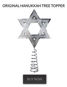 original tree topper Hannukah Christmas tree topper for interfaith families
