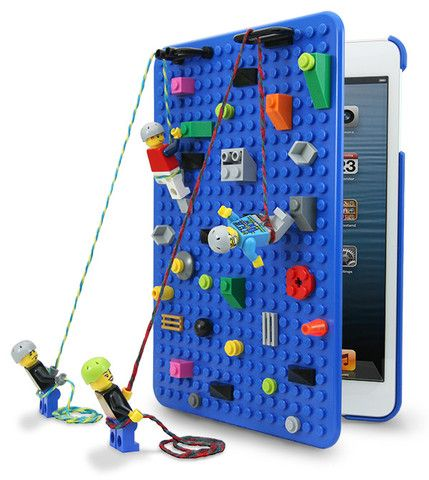 Blue Brickcase for iPad mini - Smallworks - The BrickCase is the first iPad mini snap-on hard case designed with an edge-to-edge studded baseplate building surface, compatible with LEGO, Kre-O®, and MegaBloks® bricks and elements.