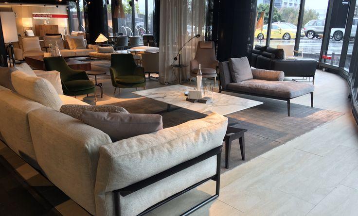 Flexform Zeno Light sofa in the Fanuli Showroom, Melbourne  - 681 Chapel Street South Yarra.  03 9826 8777