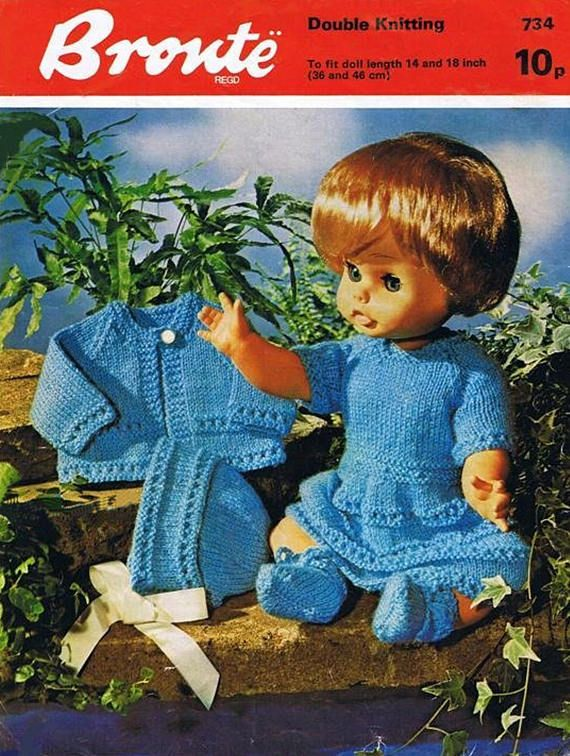 PDF Vintage Doll Clothes Premature Baby Knitting Pattern Angel