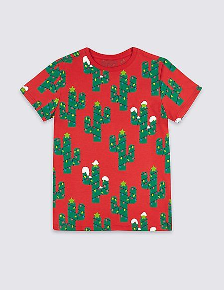 cee196855c3 Pure Cotton Cactus T-Shirt (3-16 Years)