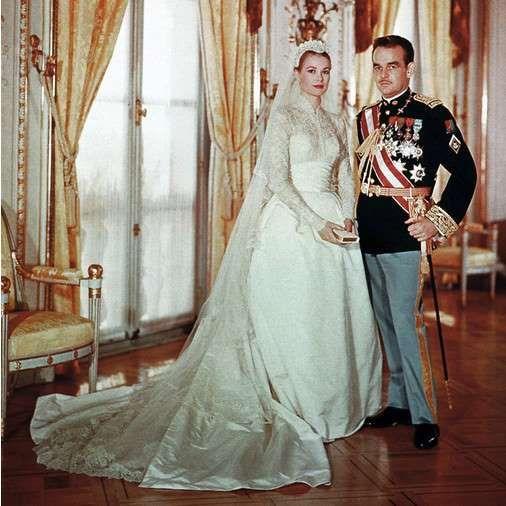 Принц Ренье и Грейс Келли свадьба