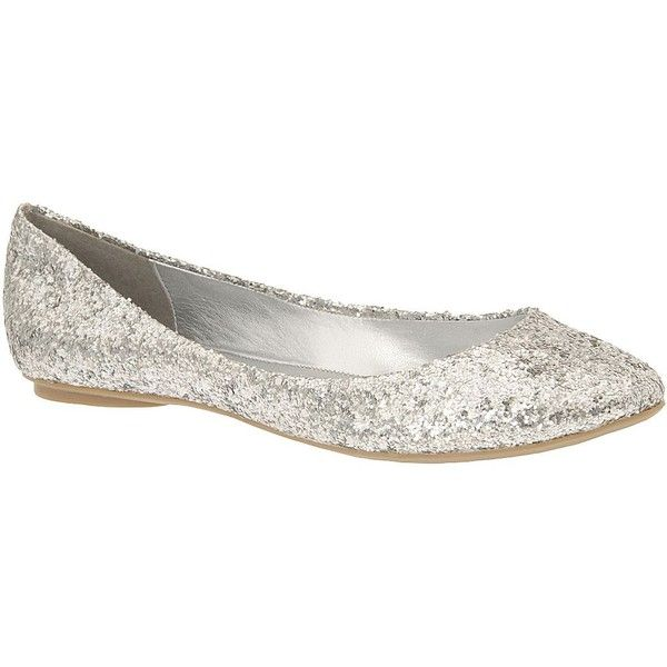 Call It Spring Tm Arleigh Glitter Flats 25 Liked On Polyvore Flatssilver Flatsbridesmaid Shoesbridesmaidswedding