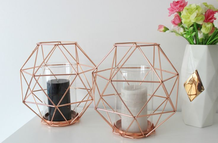 kmart geometric candle holders home decor