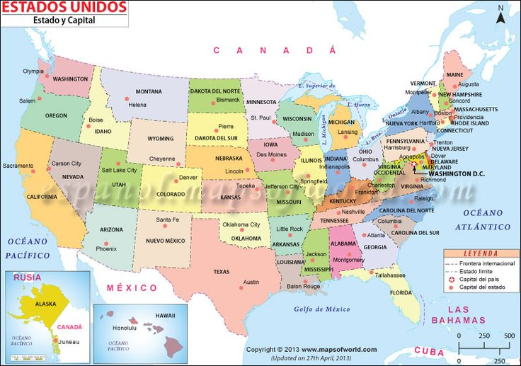 Mapa de #Estados #Unidos #mapsinspanish
