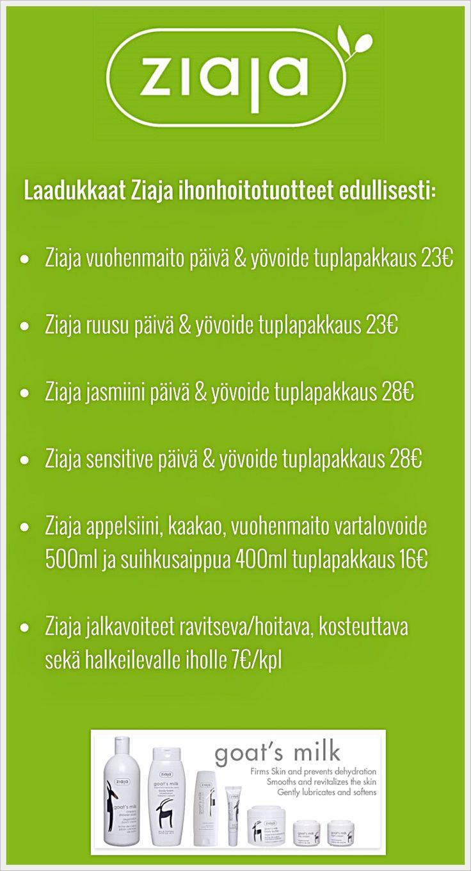 Laadukkaat Ziaja ihonhoitotuotteet edullisesti! Ziaja – voimaa luonnosta http://www.ziaja.fi/