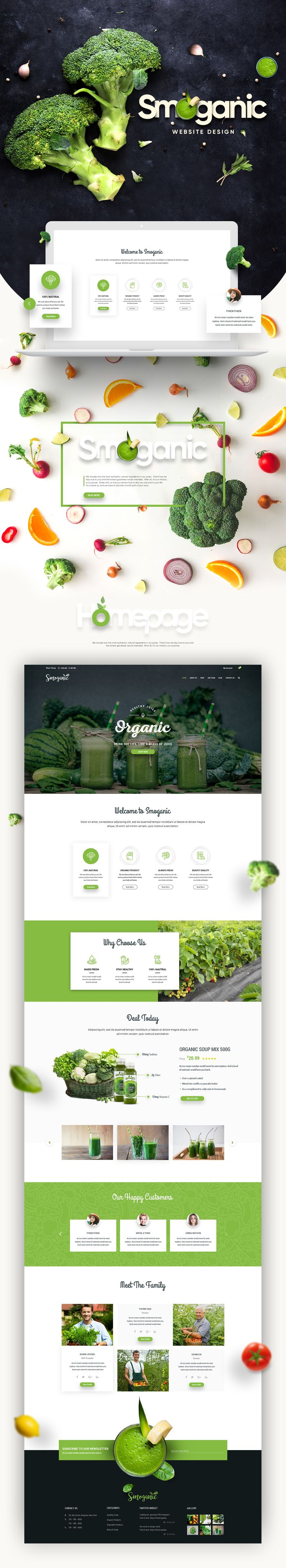 다음 @Behance 프로젝트 확인: \u201cSmoganic Website Design\u201d https://www.behance.net/gallery/51094049/Smoganic-Website-Design