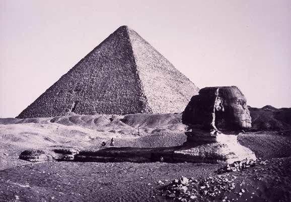 Le sphinx ensablé en 1870