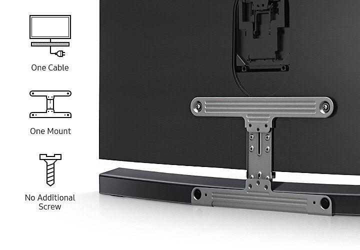 Curved soundbar HW-MS6500 eenvoudige montage