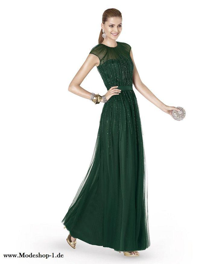 Dunkel Grünes Pailletten Abendkleid