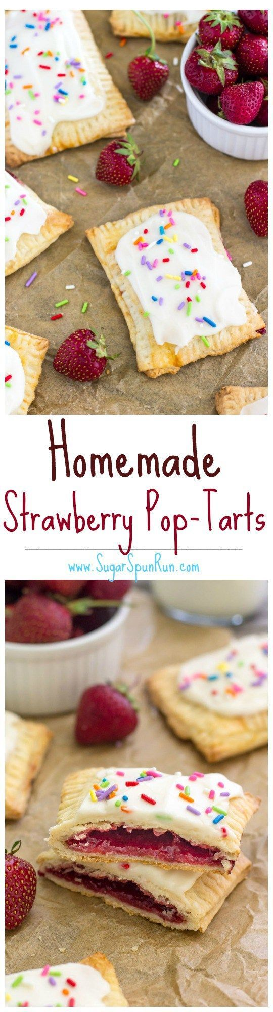 Homemade Strawberry Pop-Tarts -- SugarSpunRun
