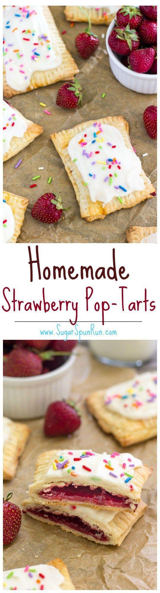 Homemade Strawberry Pop-Tarts -- SugarSpunRun