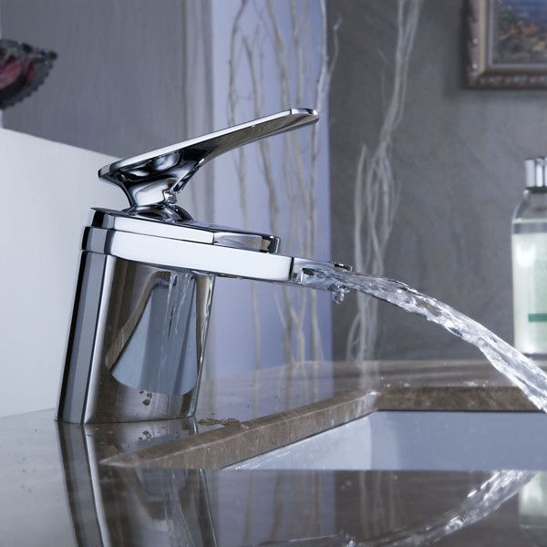 Best Bathroom Images On Pinterest Home Bathroom Ideas And - Contemporary waterfall faucets riflessi from gessi