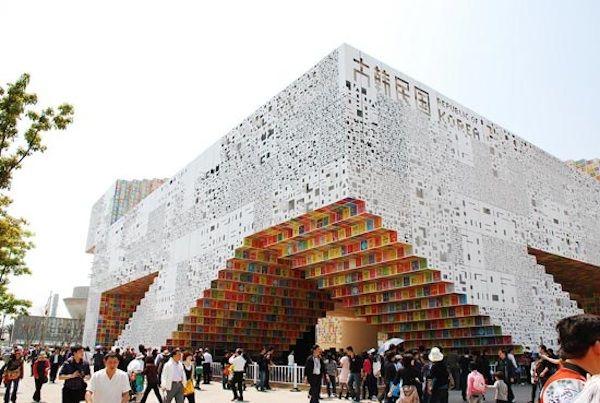 The Korean Pavilion for the Shanghai Expo based on the Korean alphabet