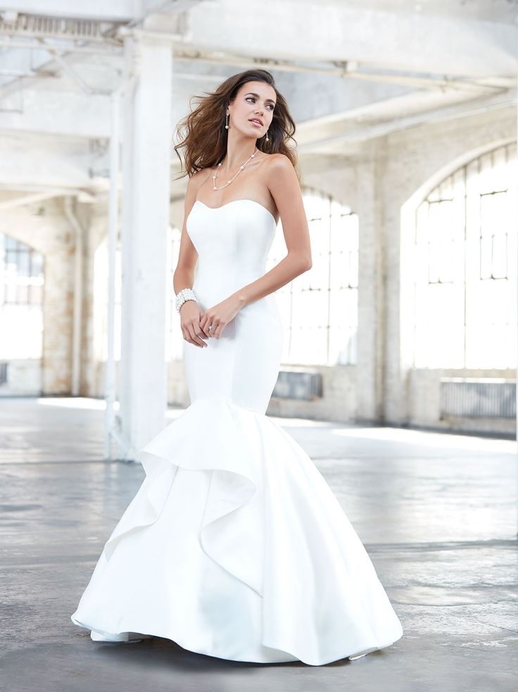 find this pin and more on madison james satin fitted wedding dress