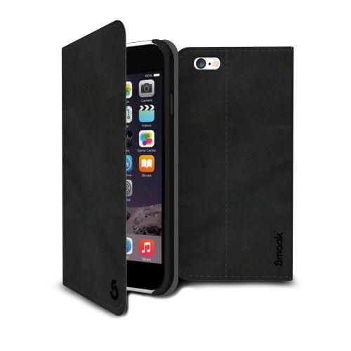 Smaak™ Yuppie Premium Leather Flip Case  for iPhone 6 Plus - Black. For more info visit http://ismaak.com