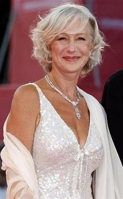 Helen Mirren...inspiration and truly, what a beautiful lady. She emits positiveness and self worth. I love her hair and the genuine smile.