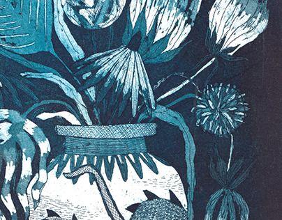 """Check out new work on my @Behance portfolio: """"Váza s květinami"""" http://be.net/gallery/50419679/Vaza-s-kvetinami"""