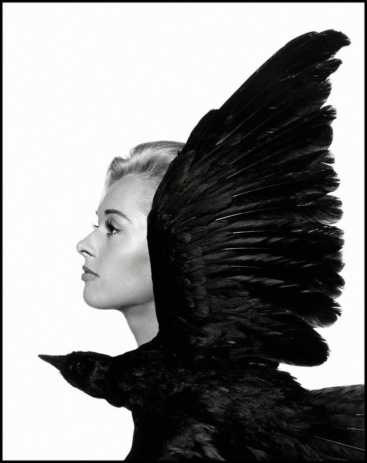 "Tippi Hedren, main actress in British film director Alfred Hitchcock's movie ""The Birds"", 1962, by Philippe Halsman"