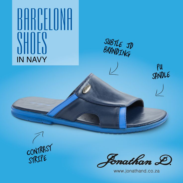 Kick your shoes off. Spring's here and so is Jonathan D's Barcelona Sandal. Made from a comfortable PU material, these classic, slip-on sandals have a stylish contrast stripe and subtle Jonathan D branding. Available in three classy colourways.