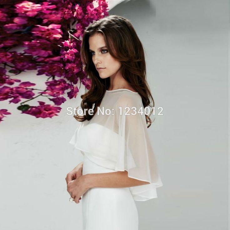 Wedding Jacket 2016 Hao Sale Charming Silk Chiffon Wedding Bolero Cheap Wedding Jacket Bridal Wrap Bolero Mariage Free Shipping