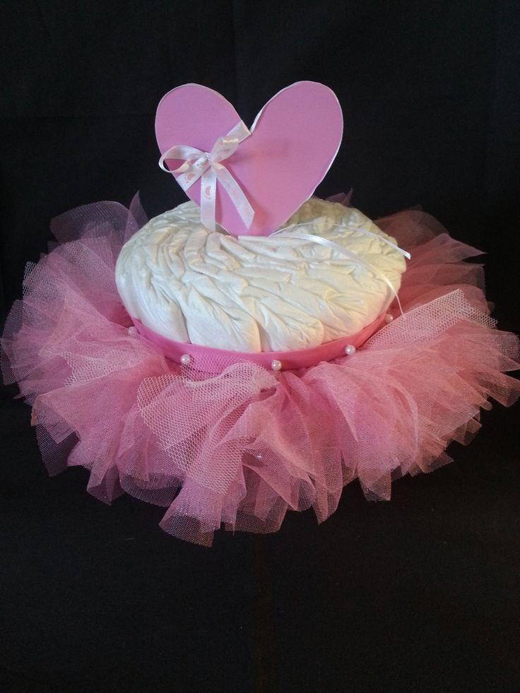 Gâteau de couches fille