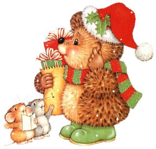 egeltje met kerstinkopen
