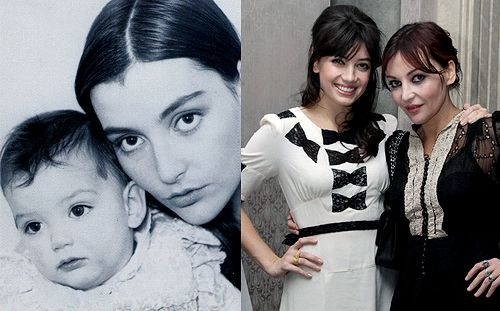 Pearl and Daisy Lowe: then and now...