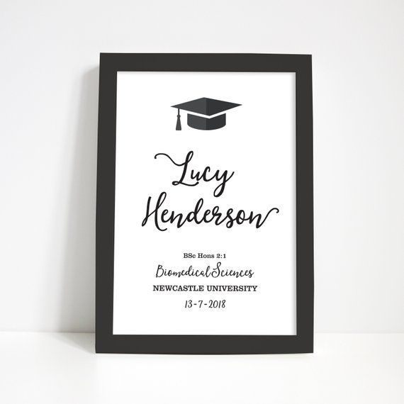 Looking For Personalised Graduation Art Prints For A Special