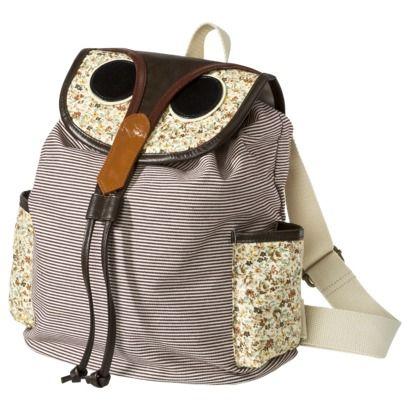 Owl backpack...soo cute =)