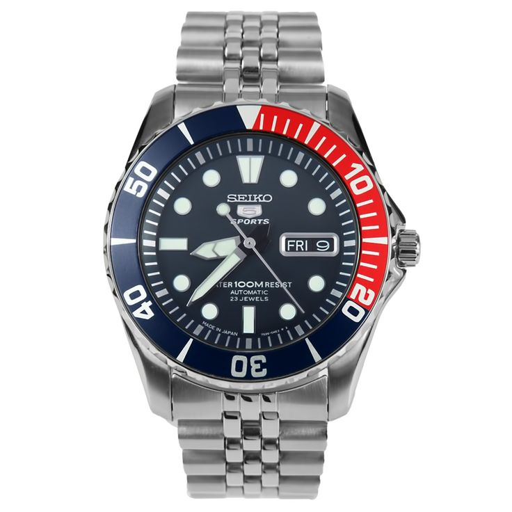Jubilee Seiko 5 Sports Automatic Mens Diver Watch SNZF15J1 SNZF15