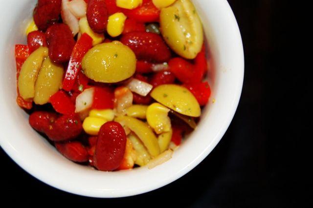 sycylijska sałatka z oliwkami