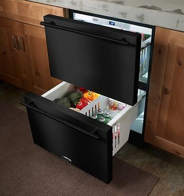 Marvel-Refrigerated-Drawers-BLACK-60RDE-BB-F-Compact-Refrigerator-NEW-warnty