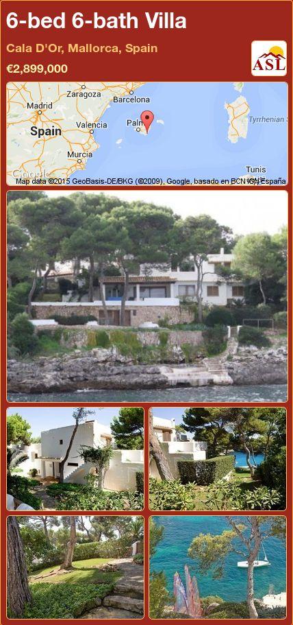 6-bed 6-bath Villa in Cala D'Or, Mallorca, Spain ►€2,899,000 #PropertyForSaleInSpain