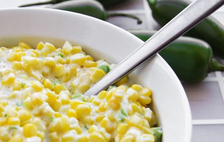 Mexican Corn - this stuff is ah-mazing! I only use half the jalepeno and add a small can of diced green chiles to keep it from being too spicy but still delicious